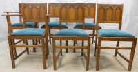 Ercol Set of Six Light Elm Dining Chairs